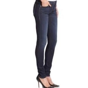 Mother dark wash skinny mid/high rise jeans